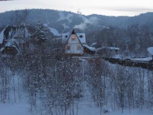 Вид с балкона на гору Соболиная