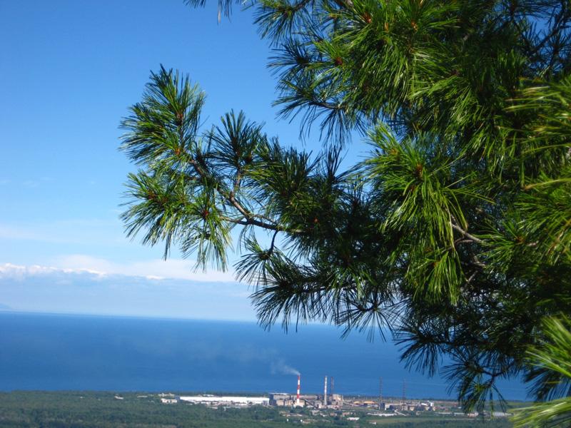 Вид на Байкал с высоты 500 метров